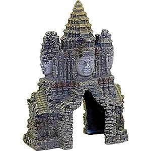 Rosewood Temple Gate Angkor Wat Aquarium Ornament