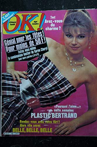 OK ! âge tendre 202 novembre 1979 * Karen CHERYL PLASTIC BERTRAND JOHNNY CHAMFORT NICOLETTA Frédéric FRANCOIS