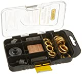 General Tools 81264 Multi Grommet Tool Kit, 3/8' and 1/2' Rustproof, Solid Brass Grommets