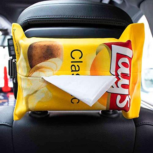 El tejido del coche cubierta de la caja, Nordic servilleta de tela soporte del contenedor, creativo bolsa de papas fritas Auto Sofá Toalla de papel de almacenamiento caso dispensador de papel decorati
