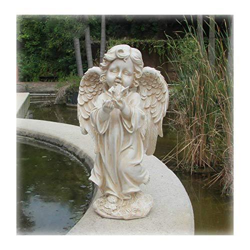 Gartenfigur 34 cm Hoch Engel 16728 A Gartendeko Engelsfigur Grabdeko Figur Engels