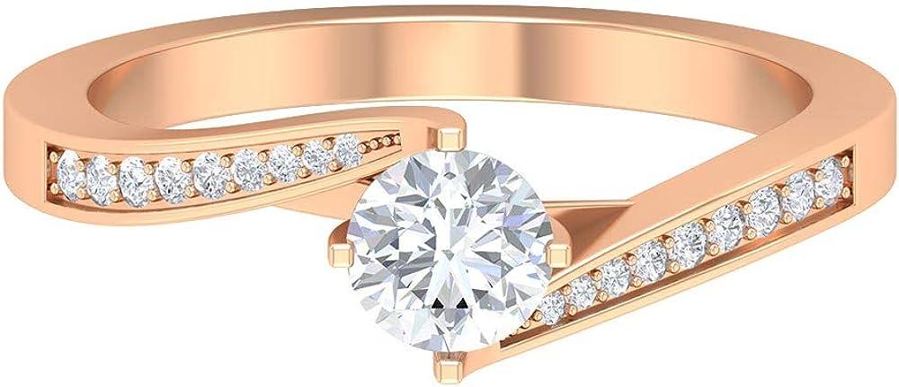 3 4 CT Diamond Limited price Ring Unique Wedding Bridal Ri Weekly update Shank Spiral