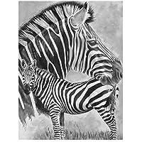 DIY絵 デジタル油絵 数字油絵40x50cm ホーム オフィス装飾 ゼブラ動物 油絵 数字キット塗り絵 手塗り