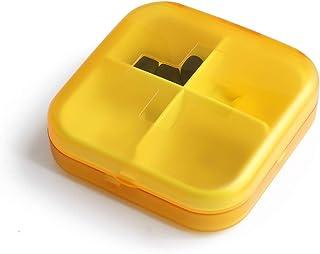 Small Pill Box Portable One Week to Install Moisture-Proof Portable Storage Box Mini Medicine Pill Box Sealed Pill Box LIUXIN (Color : Orange, Size : 7cm×7cm×2cm)