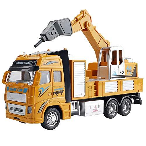 Vehículos pull-back Aleación Sitio de construcción Máquina de demolición Coche de juguete Metal Resistente a roturas Simulación Modelo de vehículo de excavación Juguete Niño Niño Coche de juguete Pul