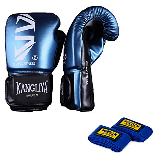 SFEEXUN Boxing MMA Gloves for Adults Teenagers, Leather Punching Gloves for Punching Bag Kickboxing...