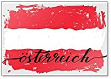 Österreichische Flagge Grunge Paint Handschrift Kühlschrankmagnet