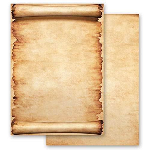 Papel de carta Antiguo & Historia PERGAMINO - 20 Hojas formato DIN A4 - Paper-Media