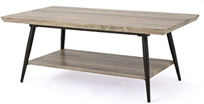 Christopher Knight Home Lathom Wood Coffee Table, Canyon Grey