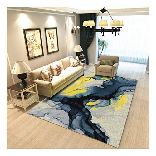 laagpolig designer tapijt Home woonkamer tapijt met contour cut strepen vierkant bladeren patroon voor vloerverwarming geschikt slaapkamer hal (kleur : 21, maat: 80 * 160cm)