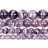 Perlas de piedra natural para la fabricación de joyas Lapislazuli Amatista Folletos Accesorios de pulsera redonda Hecho a mano 4-12mm-Amatista_6mm alrededor de 63pcs