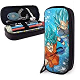 Anime Design Leder Bleistift Fall Schule Briefpapier Box Dragon Ball Goku & Vegeta Make Up Fall