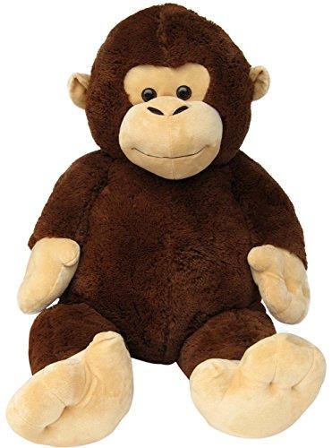 Wagner 9028 - Riesen XXL AFFE 140 cm groß - Plüschbär Kuschelbär Teddy Bär 1,40 m Plüschaffe Schimpanse Teddybär