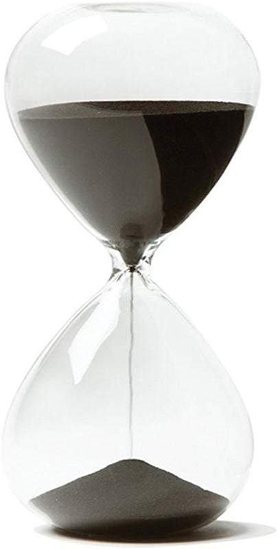 Colorado Creative Sand Clock Timer Hourglass Gifts As Delicate Home Or Bedroom Decorations Black 5 Minutes