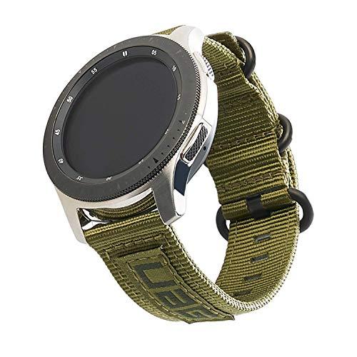 Urban Armor Gear Nato Strap Armband Samsung Galaxy Watch3 45mm, Watch 46 mm, Gear S3 Frontier & Classic, Watch Active 2 44 mm (Designed für Samsung Smartwatches, Ersatzband aus Nylon) - olive