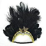 gaiya Belly Dance Headwear Halloween Articles Dance Performance Hair Hoop Feather Headwear Christmas Women 's Head Hoop Outside Código Promedio Negro