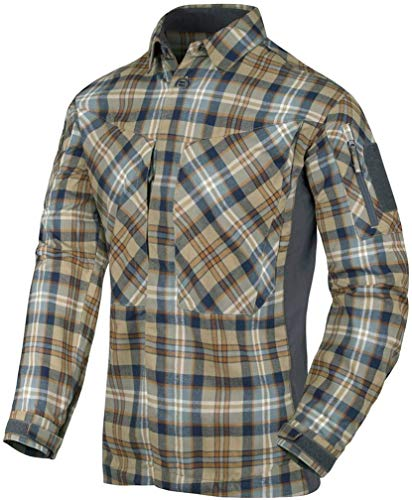 Helikon-Tex MBDU Flannel Shirt® Freizeit Outdoor Hemd -Polyester- Ginger Plaid