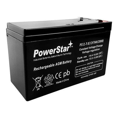 POWERSTAR 12V 7A SLA Battery - Rechargeable Lead Acid Battery – Sealed Lead Acid Battery – RBC3 Battery – 12V Rechargeable Battery – Sealed Technique for Leakage Proof Battery