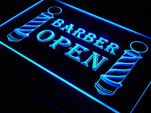Cartel Luminoso ADV PRO i044-b Barber Poles Display Hair Cut NEW Light Signs