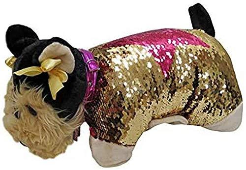 Doggie Star C-03-DS Cojín Peluche Yorkshire - Yorky. Oro y Rosa