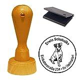 Stempel mit Kissen « JACK RUSSEL TERRIER » Hund Haustier