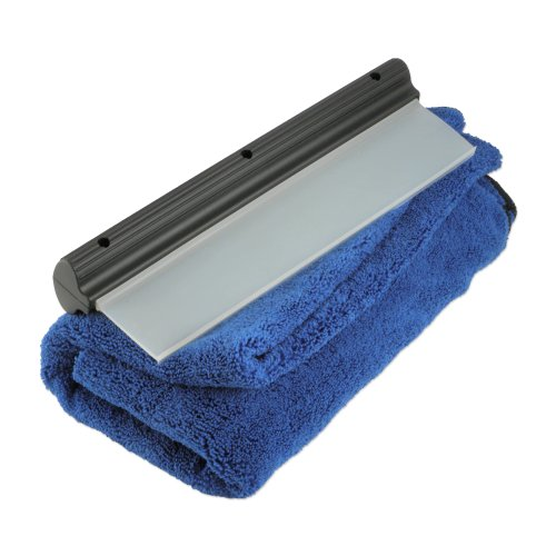 """Zwipes Ultimate Dry Combo Drying Microfiber Towel (Size: 40"""" x 25"""") and Dry Blade, Blue/Black"""