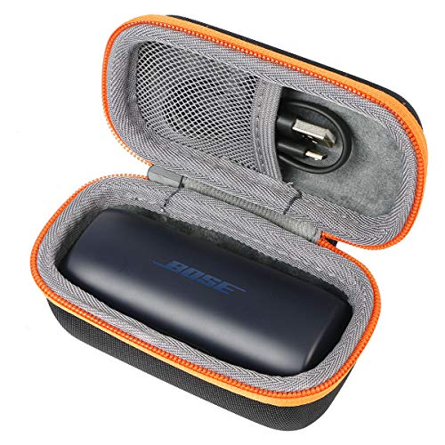 co2CREA Duro Viajar Caso Cubrir para Bose SoundSport Free - Auriculares intraurales inalámbricos(Travel Case) (Naranja(Bright Orange))