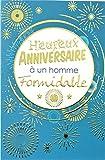 Carte Heureux Anniversaire à un homme formidable Feu d'artifice Doré Or étoiles Bleu Fabriqué en France