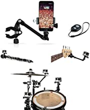 OCTO MOUNTS - 360-degree Adjustable Desktop or Guitar Mic Bass Drum Keyboard Music Stand Mount with Remote Shutter for Smartphones. Compatible with iPhone, GoPro,Samsung, Android and Action Cameras.