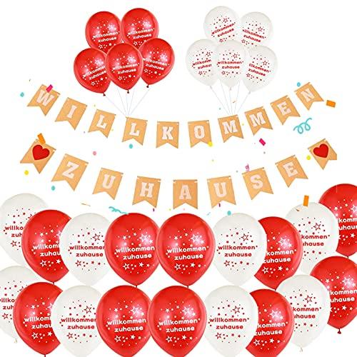 Sunshine smile 30 globos de 21 pulgadas, de gran calidad, de bienvenida a casa, pancarta de bienvenida para casa, guirnalda para fiestas familiares