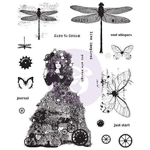 Prima Marketing Finnabair Cling Stamps 6'X7.5'-Dare To Dream