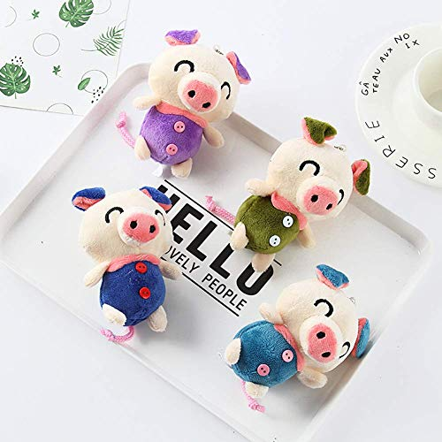 Fulinmen Plush Toy,Cute Cartoon Plush Pig Pendant Keychain Key Handbag Purse Hanging Decor Gift,Made of US Natural Cotton,Perfect Best Gift for Thanksgiving,Christmas,Valentine Random Color