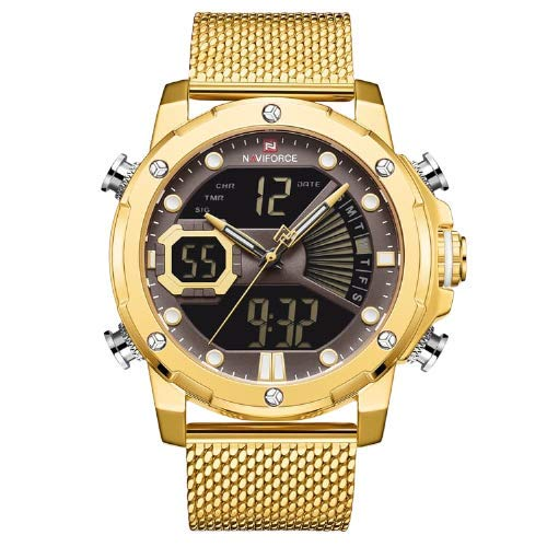 Relógio Masculino Naviforce NF9172S GCEG Aço Inox - Dourado