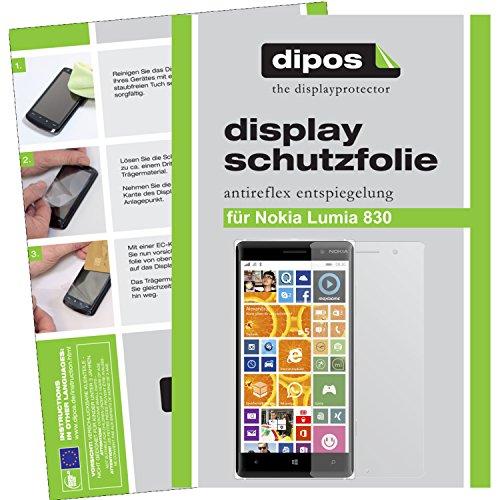 dipos I 6X Schutzfolie matt kompatibel mit Nokia Lumia 830 Folie Bildschirmschutzfolie
