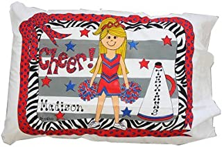 Bunnies and Bows - Cheerleader - Personalized Pillowcase