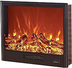 Chimenea Eléctrica Empotrada - Estufa De Pared Empotrada con W Logs 3D Flames Ornamental - Enchufe De Inserción Y Sensor Más Seguro - Salida De Aire Superior Negra 1500 W 74 18 60 Cm