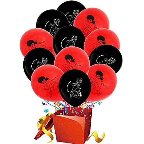24pcs Globo mariquita milagrosa HANEL-Ladybug Globos de Fiesta Latex Globo Suministros de Fiesta para Cumpleaños, Fiestas, Bodas, Propuestas, Reuniones y Otras,Decoración de Fiesta Halloween