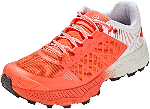 Scarpa SPIN Ultra WMN, Zapatillas de Trail Running Mujer, Bright Red-White ARS6 Velox MAX LB, 37 EU