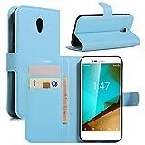 HualuBro Funda Vodafone Smart Prime 7, [Protección Todo Alrededor] Premium PU Cuero Leather Billetera Wallet Carcasa Case Flip Cover para Vodafone Smart Prime 7 Smartphone