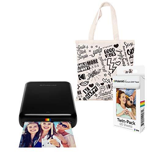 Polaroid fotoprinter met ritssluiting, draadloos, zwart