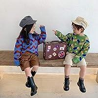 セーター ニット 厚手 長袖 シンプル ファッション SALE 子供服 韓国子供服 2色(ブルー、グリーン)サイズ(80-130㎝)