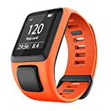 RongYooo Replacement Tomtom Strap Bands,Silicone Watch Band Compatible for Tomtom Runner 2 3,Tomtom Spark 3,Golfer 2. (Orange)