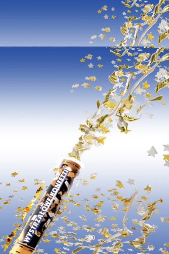 Confetti kanon met gouden rechthoekige confetti, 40cm