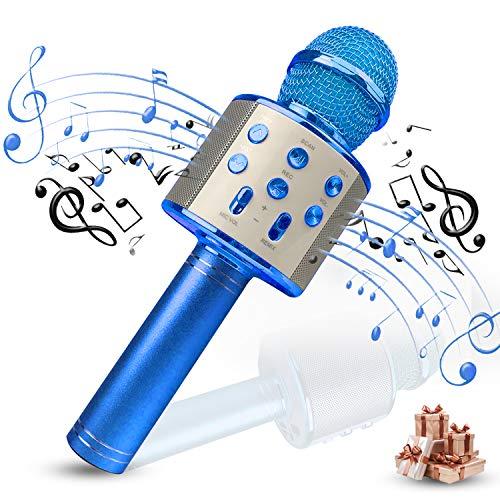 Creen Mikrofonspielzeug für Jungen Mädchen Teenager, Mikrofon Kinder Karaoke Mikrofon Mädchen Bluetooth Mikrofon Weihnachts Geschenke für Kinder