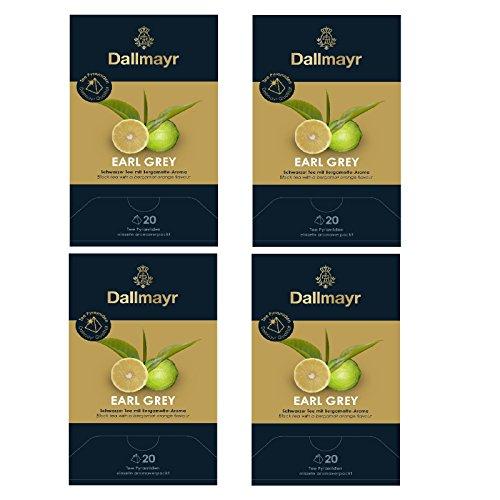 4 x Dallmayr Earl Grey Bio Schwarzer Tee 20 Pyramiden a 2,20g
