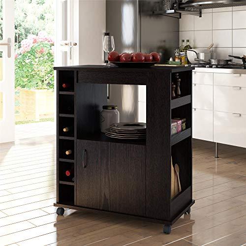 Ameriwood Home Williams Kitchen Cart, Espresso