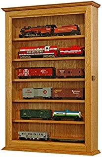 Model Train Display Case Oak Wall Cabinet-HO Scale *Made in the USA*