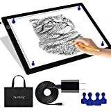 """A3 Magnetic Light Pad - Portable Tracing Light Box for Drawing - Professional Light Table with 4 Magnets, 0.27""""..."""