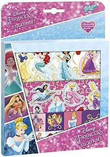 Kit Créatif - Disney Princesse - Stickerset - Set d'autocollants D'environ 50 pcs et 1 Scène Cartonnée