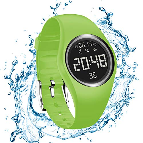 RCruning-EU Smartwatch Schrittzähler Fitness Armband Wasserdicht IP68 Aktivitätstracker Schrittzähler Kalorienzähler Ohne Bluetooth für Damen Kinder Herren Ohne App Handy